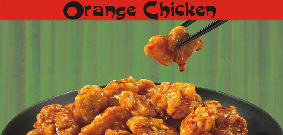 Orange Chicken with Chop-Sticks