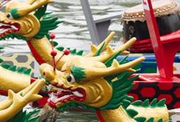 Chinese dragon boat