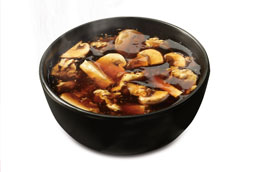 Bowl of Chinese mushroom soup