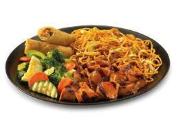 Plate of Chinese food