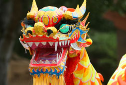 Chinese dragon face
