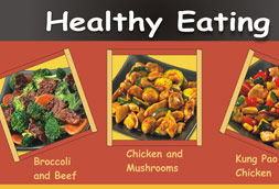 Healthy eating menu